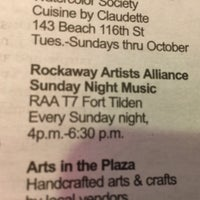 Photo taken at Rockaway Artists Alliance sTudios 6 & 7 by Nate F. on 10/4/2014