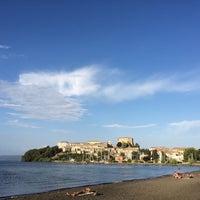 Photo taken at Lungolago Capodimonte by Giulio G. on 7/26/2015