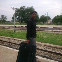 Photo taken at Kanchipuram Railway station by Hari H. on 8/16/2013