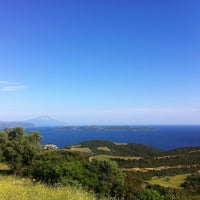 Photo taken at Ierissos by Di T. on 5/10/2013