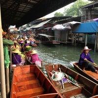 Photo taken at Damnoen Saduak Floating Market by imooi on 2/16/2013