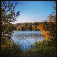 Photo taken at Климовские карьеры by Simon Z. on 6/11/2013