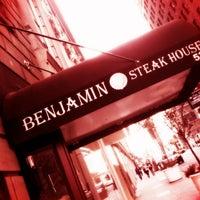 Photo taken at Benjamin Steakhouse by Luke on 11/3/2012