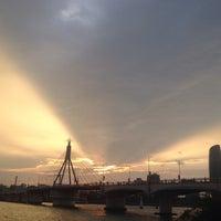 Photo taken at Han River Bridge by Trang X. on 7/9/2015