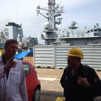 Photo taken at HM Naval Base by Neil Kathryn B. on 5/21/2014