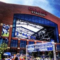 Photo taken at Lucas Oil Stadium by Lauren W. on 9/15/2013