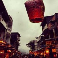 Photo taken at Shifen Sky Lantern Square by Chiao Lin H. on 3/15/2013