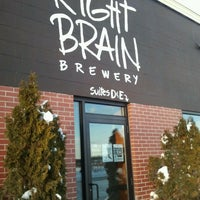 Photo taken at Right Brain Brewery by Chrissy C. on 2/14/2013