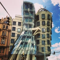 Photo taken at Dancing House by Natalia P. on 5/13/2013