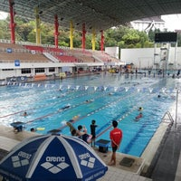 Photo taken at Pusat Akuatik Darul Ehsan (Aquatic Centre) by Saiful W. on 2/24/2013