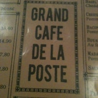 Photo taken at Grand Café de la Poste by Lorène D. on 3/10/2013