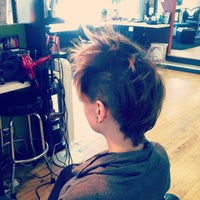 Photo taken at Milios Hair Studio by Katie L. on 9/15/2012