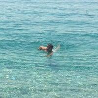 Photo taken at Bedya Beach by Ayşe K. on 7/21/2013