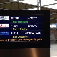 Снимок сделан в Выдача багажа пользователем ᎷᎪ®💛 4/12/2014