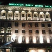 Photo taken at Sofia Hotel Balkan by Jurgen L. on 2/4/2013
