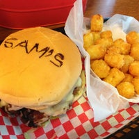 Photo taken at Sam's Burger Joint by Bret L. on 5/10/2013