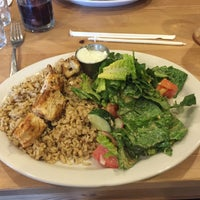 Photo taken at Loya Organic Middle Eastern Grill by Mark D. on 8/10/2015
