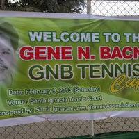 Photo taken at Sta. Ignacia Tennis Court by Edison V. on 2/9/2013