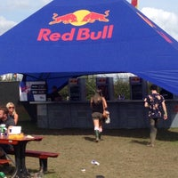 Photo taken at red bull tent by samantha j. on 8/24/2014