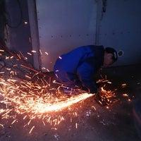 Photo taken at East Coast Custom Hustler Garage by Ari N. on 2/20/2014