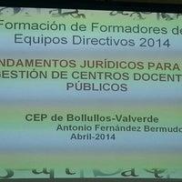 Photo taken at Centro de Profesorado Bollullos-Valverde by Maria B. on 4/22/2014