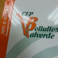 Photo taken at Centro de Profesorado Bollullos-Valverde by Maria B. on 10/21/2013