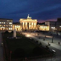 Photo taken at Brandenburg Gate by Kotya Z. on 5/3/2013