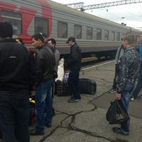 Photo taken at Ж/Д Вокзал Хабаровск-1 by Евгения М. on 5/11/2013