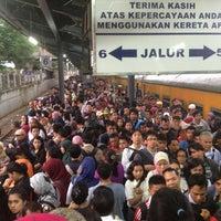 Photo taken at Stasiun Tanah Abang by Viens T. on 2/21/2013