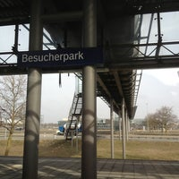Photo taken at S Flughafen Besucherpark by Di K. on 4/8/2013