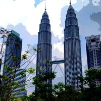 Photo taken at KLCC  Twin Tower by Feb Ogi Z. on 3/29/2013