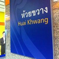Photo taken at MRT Huai Khwang (HUI) by One S. on 3/14/2013