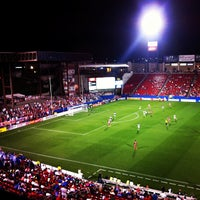 Photo taken at Toyota Stadium by Maggie H. on 5/9/2013