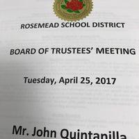 Photo taken at Rosemead School District by John Q. on 4/26/2017