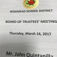Photo taken at Rosemead School District by John Q. on 3/17/2017