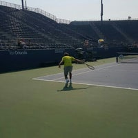 Photo taken at Practice Court 6 / Old Grandstand by Laura P. on 9/1/2015