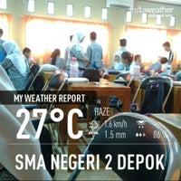 Photo taken at SMAN 2 Depok by Elisha Honey R. on 9/5/2013