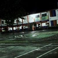 Photo taken at Lapangan Basket SMA Kristen Barana by ReynardMTaruk on 6/1/2013