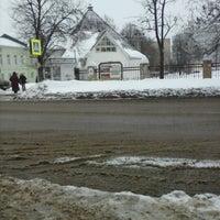 "Photo taken at остановочка ""после больницы"" by Anton I. on 2/8/2013"