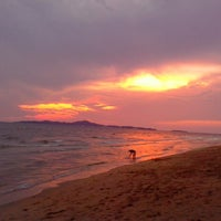 Photo taken at Dongtan Beach by Paul S. on 3/22/2013