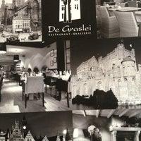 Photo taken at Restaurant De Graslei by Charlotte D. on 3/16/2013