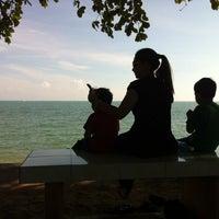 Photo taken at Pantai Tanjung Bidara by Izudin I. on 6/9/2014