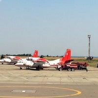 Photo taken at Злітно-посадкова смуга аеропорту Дніпро by Kristina on 8/18/2017