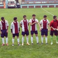 Photo taken at KTÜ Futbol Stadyumu by Ömer Faruk Ç. on 4/28/2014