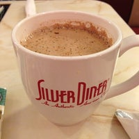 Photo taken at Silver Diner by Aaron H. on 10/14/2012