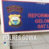 Photo taken at Kantor POLRES GOWA by Fadhlan E. on 3/20/2013