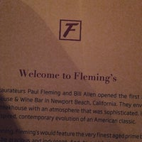 Photo taken at Fleming's Prime Steakhouse & Wine Bar by Alban B. on 2/28/2015