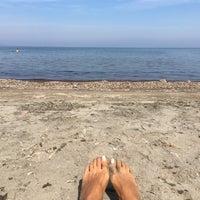 Photo taken at karapinar plaj by Pelin A. on 10/2/2016