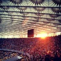 Photo taken at Olimpiyskiy Stadium by Elena R. on 6/29/2013
