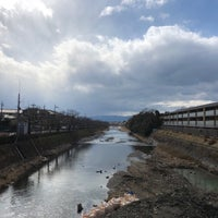 Photo taken at 松ヶ崎橋 by 松平大和守 on 2/11/2018